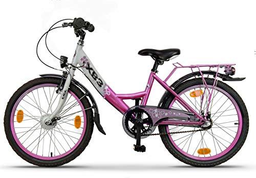 XB3 20 Zoll Kinderfahrrad für Mädchen, 3 Gänge Shimano Nabendynamo mit Nabenschaltung, Mädchenfahrrad...