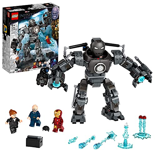 LEGO 76190 Marvel Super Heroes Iron Man und das Chaos durch Iron Monger, Spielzeug mit Superhelden...