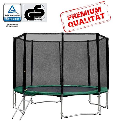 Baunsal GmbH & Co.KG Gartentrampolin Trampolin 305 bis 310 cm in grün mit Sicherheitsnetz und...