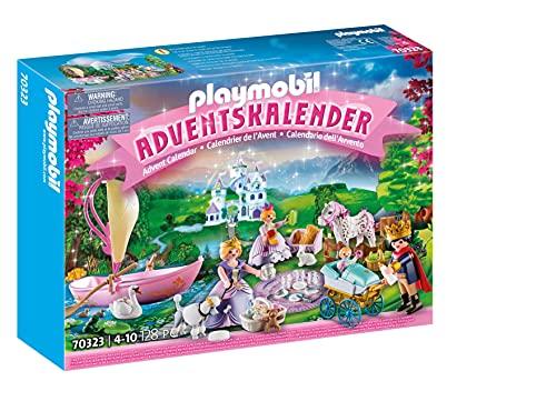 PLAYMOBIL Adventskalender 70323 Königliches Picknick im Park mit zahlreichen Figuren, Tieren und...