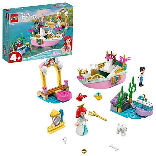 LEGO 43191 Disney Princess Arielles Festtagsboot Spielzeug, Arielle, die Meerjungfrau Set für Kinder ab...