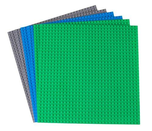 Premium-Bauplatten - mit Allen großen Marken kompatibel - 6 Stück - 10 x 10 (25,4 x 25,4 cm) - Grün,...