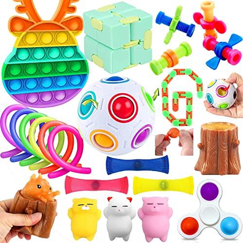 Yetech Anti Stress Spielzeug Set,19PCS Stressabbau-Spielzeug Set,Zappeln Sensorisches Spielzeug Set Für...