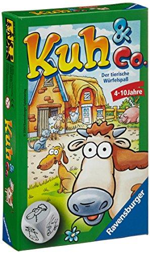 Ravensburger 23160 - Kuh und co, Mitbringspiel für 2-6 Spieler, Kinderspiel ab 4 Jahren, kompaktes...