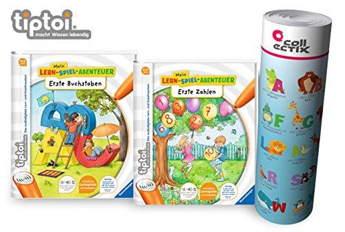 Ravensburger tiptoi ® Bücher Starterset | Erste Buchstaben + Erste Zahlen Buch + ABC Lern-Poster mit...