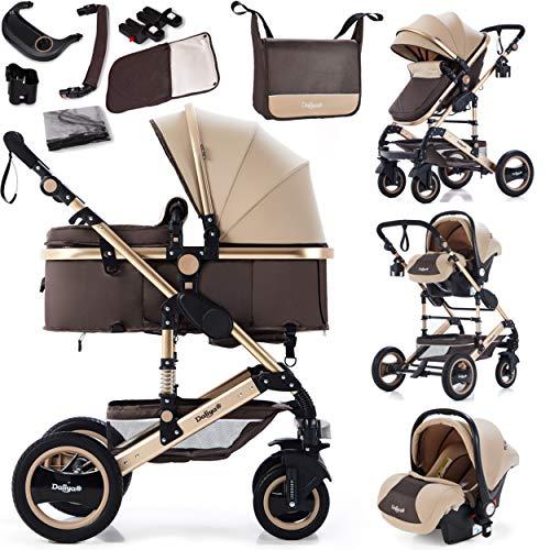 Daliya Bambimo 3in1 Kinderwagen Kombikinderwagen Riesenset 15-Teilig incl. Babywanne, Buggy, Babyschale...