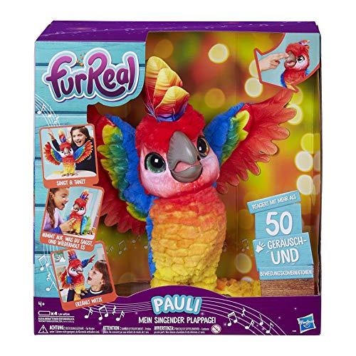 FurReal Pauli – mein singender Plappagei, interaktives Plüschtier, sprechender Papagei,...