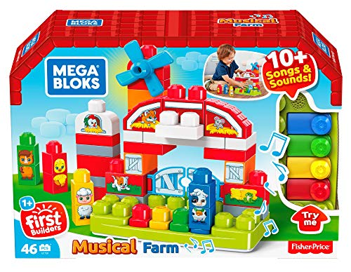 Mega Bloks GCT50 - Musikspaß Bauernhof mit Geräuschen (46 Teile)