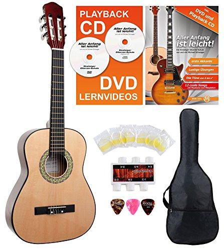 Classic Cantabile AS-851 1/2 Konzertgitarre Starter Set (Komplettes Anfänger Set mit Klassik Gitarre,...