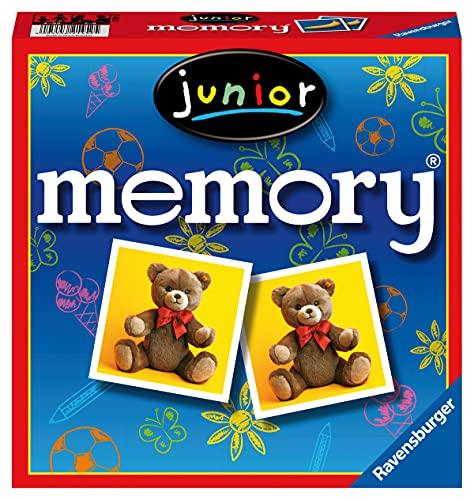 Ravensburger 21452 - Junior Memory, der Spieleklassiker für die ganze Familie, Merkspiel für 2-8...