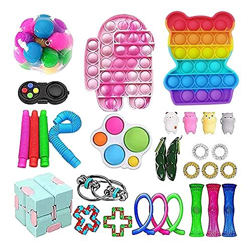 Fidget pack Fidget Toy Set, Fidget Toy Set Box für Kinder oder Erwachsene, Antistress Spielzeug Anxiety...