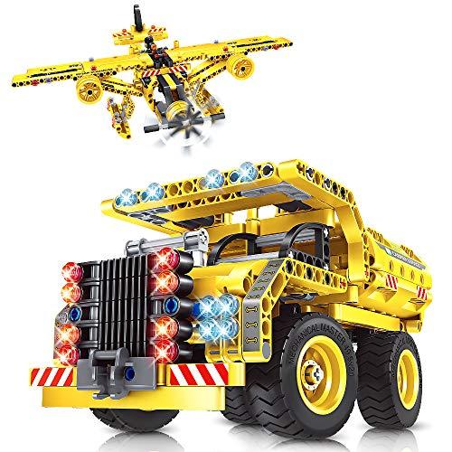 VATOS City Bausteine Spielzeug ab 6 7 8 9 10 Jahren Jungen 2 in 1 Technic Truck Airplane...