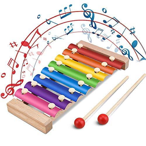 Jooheli Xylophon für Kinder, Musikspielzeug Schlagzeug Schlagwerk, Spielzeug Xylophon mit...