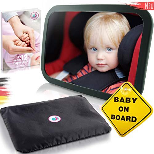 Baby Auto Spiegel Rücksitzspiegel mit 6 Teile I Universeller Autospiegel Babyspiegel für Babys im Auto...