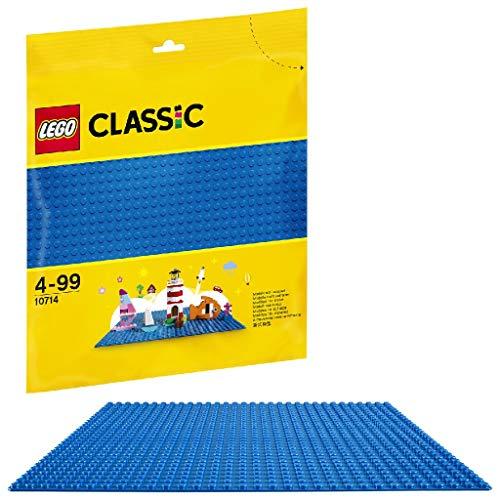 LEGO 10714 Classic Blaue Bauplatte, 25 cm x 25 cm/ Modulgröße: 32 x 32, Spielzeug