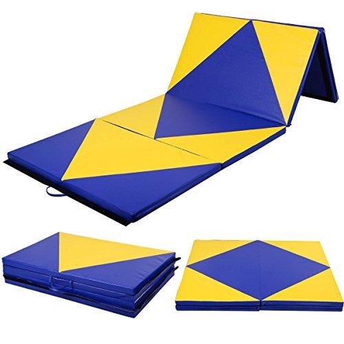 COSTWAY Weichbodenmatte 300 x 120 x 5 cm | Gymnastikmatte klappbar | Yogamatte verbindbar | Turnmatte...