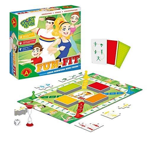 Alexander 2428 - Sport & Fun - Fun FIT, Brettspiel mit Sport Übungen, Aktivität Spiel für Körper und...