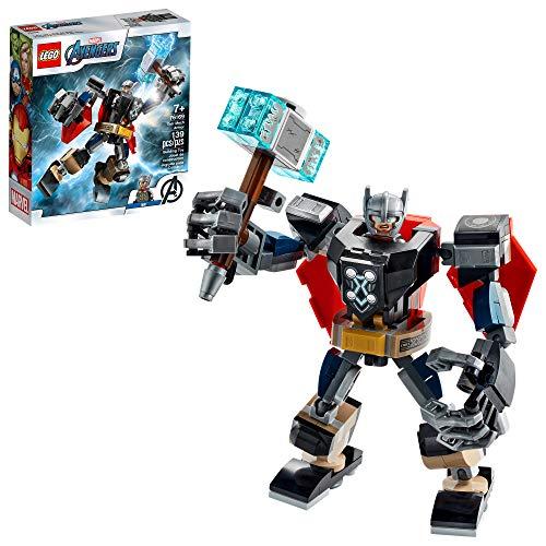 LEGO Marvel Avengers Classic Thor Mech Armor 76169 Cool Thor Hammer Spielset; Superhelden-Bauspielzeug...