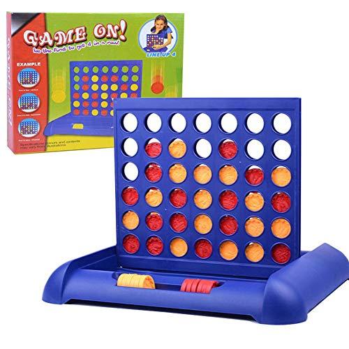 4 Gewinnt Strategiespiel Brettspiele Kinder Pädagogisches Spielzeug Rasterwand Vier in einer Reihe...