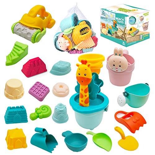 JoyGrow Kinder Sandspielzeug,Strand Spielzeug Set in Wiederverwendbarer Netzbeutel,Wasser Spielzeug mit...