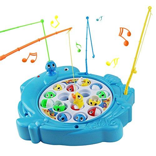 Nuheby Angelspiel Fische Angeln Spiel Fisch Spielzeug Musik Kinderspielzeug Brettspiel Pädagogisches...