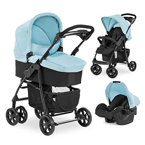 Hauck Kombi Kinderwagen Shopper Trio Set / inkl. Baby Wanne mit Matratze / Reise System mit Autositz /...