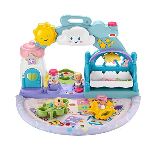 Fisher-Price Little People Baby-Krippe, Musik-Spiel, progressives Aufwachen, Töne und Licht, Spielzeug...