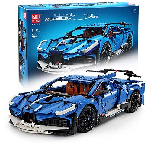 CELMAN Technik Bausteine Auto 1:8 als Bugatti Divo Sportwagen Dwo 3858 Teile Konstruktions-Set...