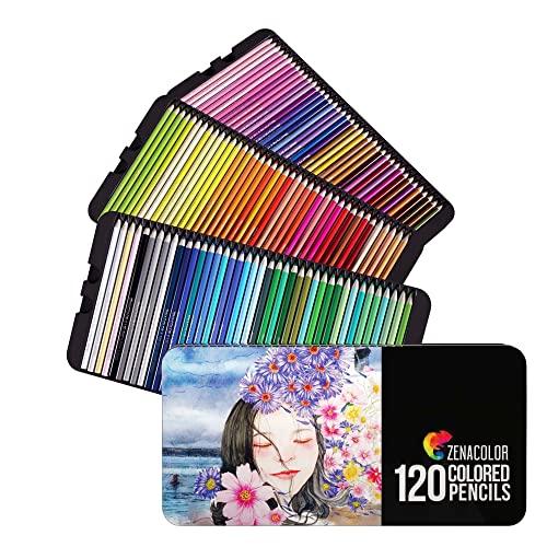 120 Zenacolor Buntstifte (Nummeriert) - Einfach aufzubewahren - Professionelles Buntstifte Set für...