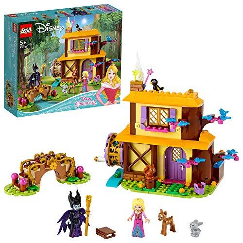 LEGO 43188 Disney Princess Auroras Hütte im Wald, Spielset aus dem Film Dornröschen mit Malefiz...