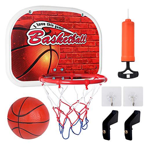 Sanlebi Basketballkorb fürs Zimmer Mini Basketball Ballspiele für Kinder mit Bälle Pump Basketballkorb...