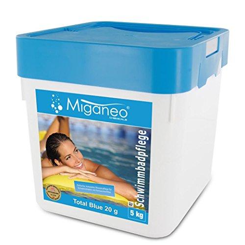 Miganeo® 5kg Total Blue Tabs 20g 5in1 Multitabs chlor für Pool Schwimmbad Chlortabs Ph Minus Alegezid...