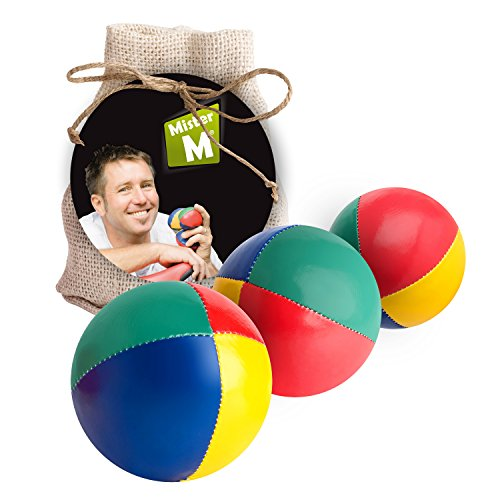 ✓ Das Ultimative Jonglierball Set ✓ 3 Jonglierbälle mit Naturfüllung ✓ Online Lern Video ✓ Jute...