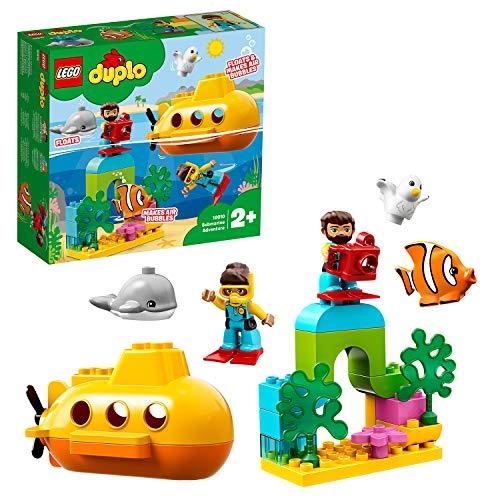LEGO 10910 DUPLO Town U-Boot-Abenteuer, Badespielzeug das Luftblasen Macht, Bauset für Kinder im Alter...