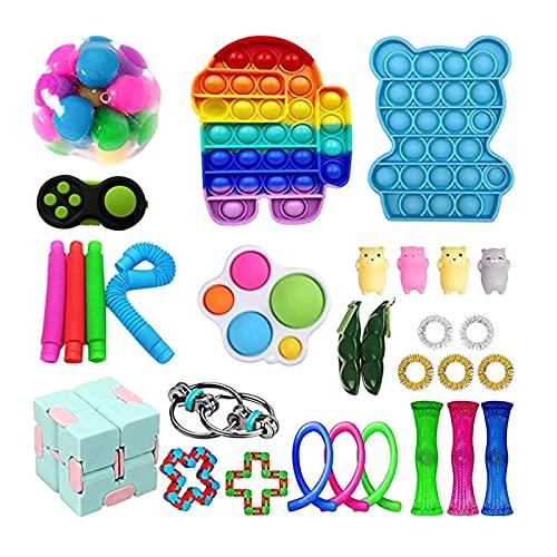 Fidget Toy Set Box, Sensory Fidget Toys Set, Anti Stress Spielzeug Set, Sensory Toys für Kinder...