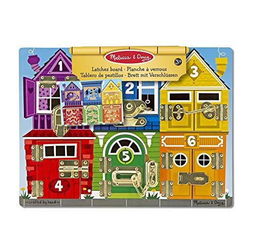 Melissa & Doug Latches Board | Developmental Toy | Motor Skills | Problem Solving | 3+ | Gift for Boy or...