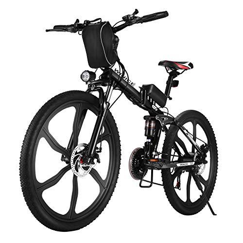 VIVI E-Bike Herren Elektrofahrrad, 26 Zoll Ebike Klapprad 350W Mountainbike Mit Herausnehmbarer 8Ah...