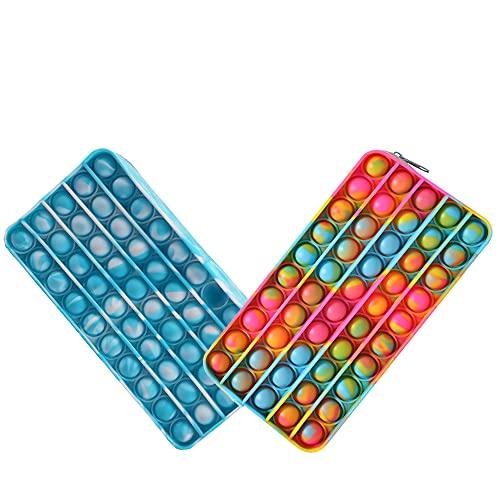 Fidget Toys Federmäppchen, Silikon-Bleistiftbox, Pop-Blasen-Zappeltasche, sensorisches Spielzeug,...