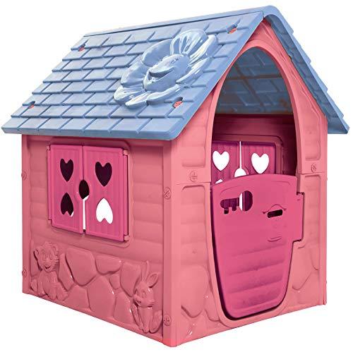 Dohany Spielhaus pink Kinderspielhaus Gartenhaus Indoor Outdoor +2J