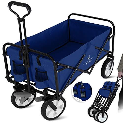 KESSER® Bollerwagen faltbar Handwagen Transportkarre Gerätewagen   inkl. 2 Netztaschen   klappbar  ...