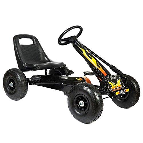 Bopster - Go-Kart mit Pedalen und aufblasbaren Reifen Go-Kart-Fahren Kinder Jungen Outdoor - Flammen