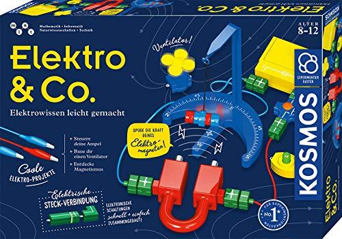 KOSMOS 620639 Elektro & Co. Elektro-Wissen leicht gemacht, Einsteiger-Experimente zu Strom, Magnete,...