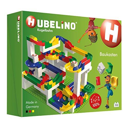 Hubelino 420183 - Kugelbahn - Mega-Baukasten - große Platte & Buch - ab 4 Jahre (100% kompatibel mit...