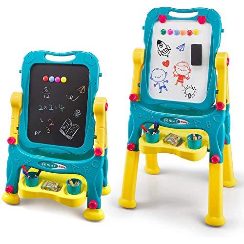 NextX Tafel Kinder Maltafel Doodle Schreiben 2 in 1 Standtafel Lernspielzeug Geschenk für Jungen...