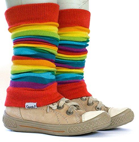 divata Stulpen für Babys und Kinder (Regenbogen) - Kinderstulpen, Babystulpen, Beinlinge für Mädchen...