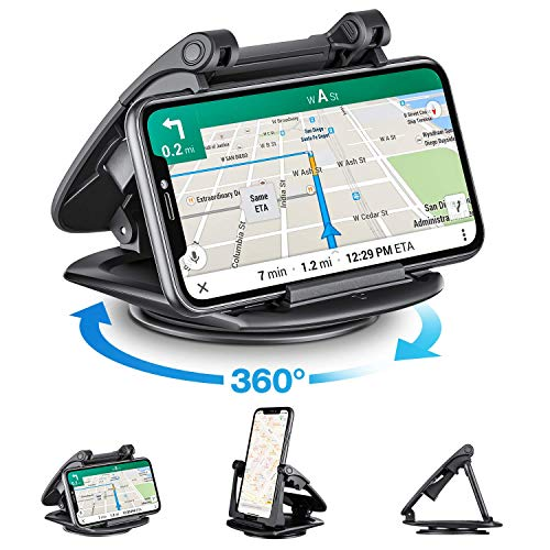 Modohe Handyhalterung Auto, 360°Sockel-drehbar KFZ Handy Halterung Universal rutschfest handyhalterung...