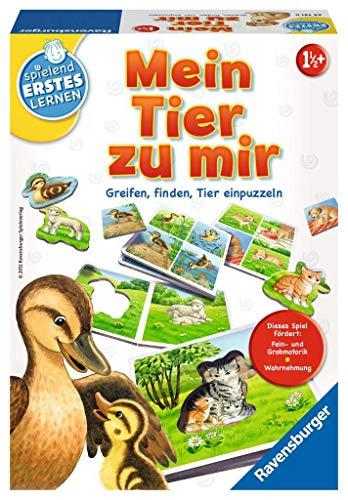Ravensburger 24731 - Mein Tier zu mir - Puzzelspiel für die Kleinen - Spiel für Kinder ab 1 und 1/2...