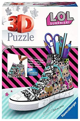 Ravensburger 3D Puzzle 11163 Sneaker L.O.L. Surprise! - Praktischer Stiftehalter - 108 Teile -...