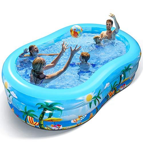 Aufblasbarer Pool - Groß Planschbecken für Kinder, Erwachsene, Babys und Kleinkinder, Family Pool...
