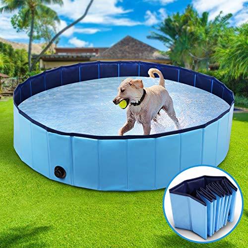 Winipet Swimmingpool Planschbecken, Hundeplanschbecken Hundebad, 160 * 30CM Klappbares...